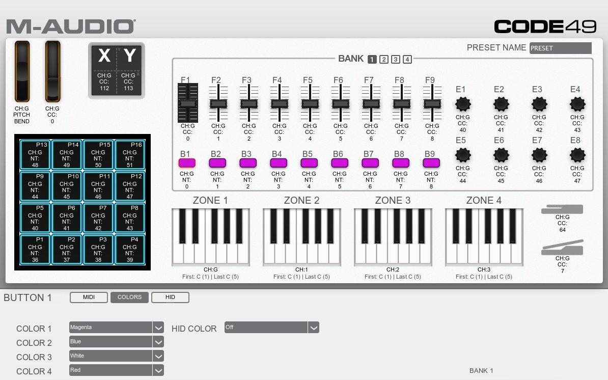 ... USB-MIDI con 49 teclas, 16 pads de disparo y una completa remesa de control para la producción/interpretación: Amazon.es: Instrumentos musicales