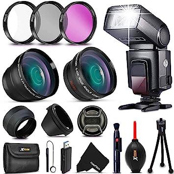 Premium 58mm Accessory Kit for CANON EOS 80D 77D 70D, EOS Rebel T7i T6i T6s  T5i, T4i, XTi, EOS 7D Mark ii, 5D Mark III,1300D, 1200D 1100D EOS T5, T3,
