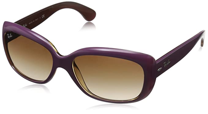 59431b3544 Rayban 0RB4101 613413 58 Montures de lunettes Top Mat Violet on Trasp Sand