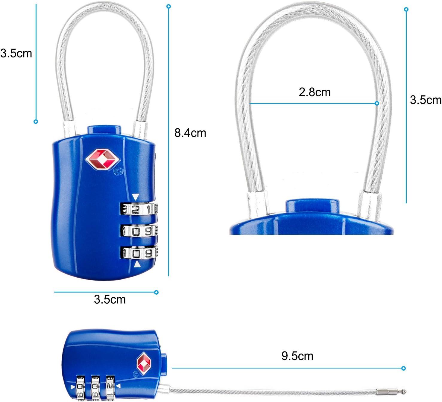 Diyife TSA Luggage Locks, Silver 2 Packs 3-Digit Security Padlock Combination Padlocks Newest Version Code Lock for Travel Suitcases Luggage Bag Case etc