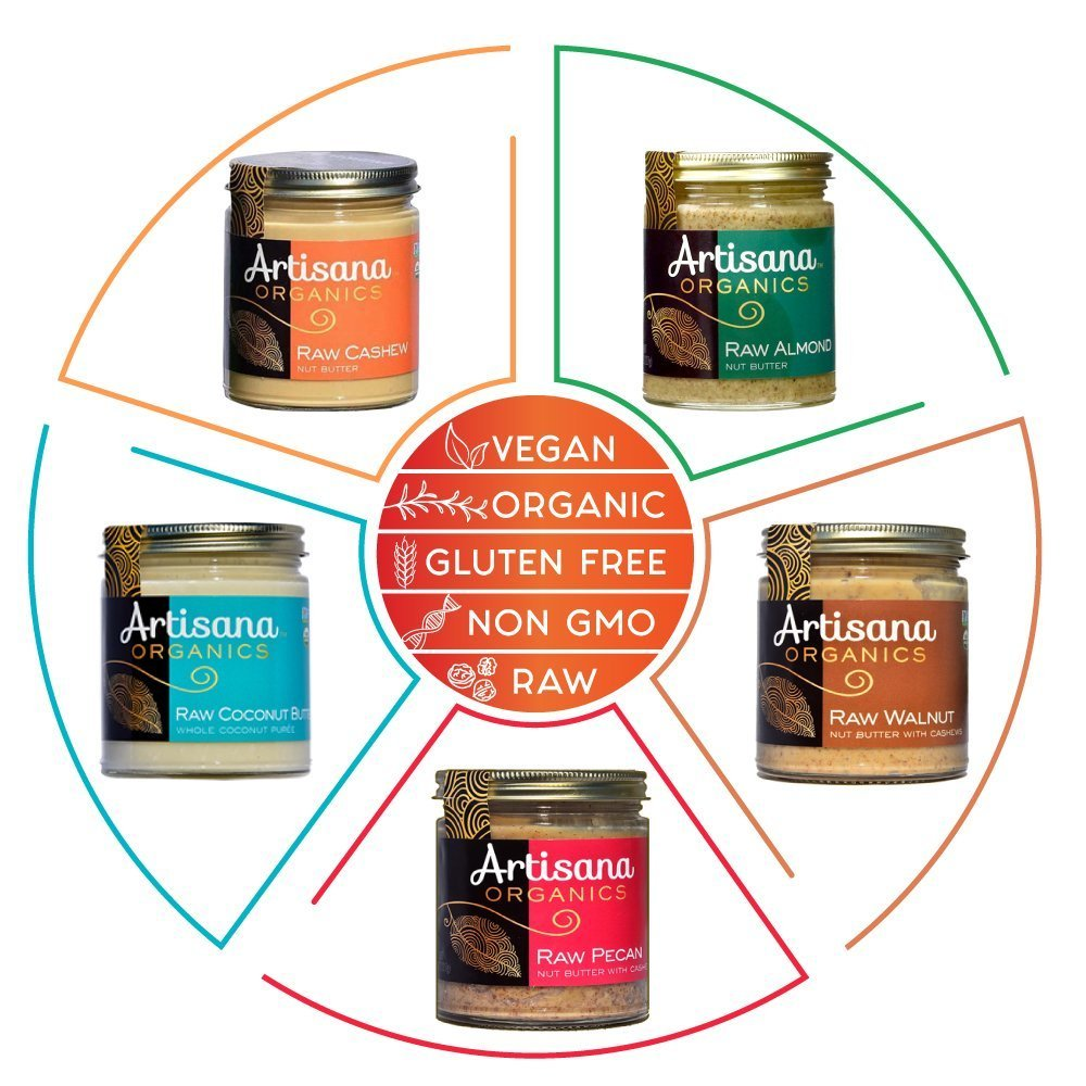 Artisana Organics - Almond Nut Butter, Single Ingredient Handmade Rich and Thick Spread, USDA Organic Certified and Non-GMO (8 lbs)