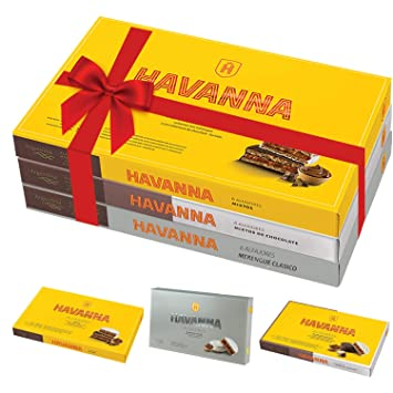 HAVANNA Alfajores Gift Variety Pack | 18 alfajores | 1 box of dark & White chocolate