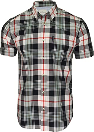 Ben Sherman SS Textured Check Shirt Camisa para Hombre: Amazon.es: Ropa y accesorios