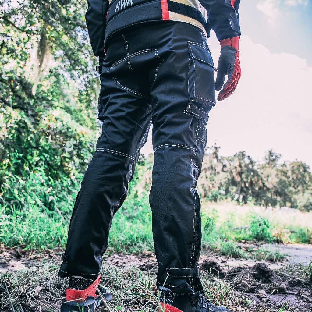 XL-Tall Mens Motorcycle Biker Waterproof Windproof Riding Pants Black with Removable CE Armor PT1