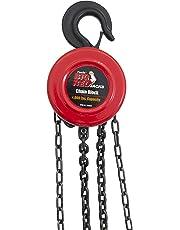 Torin TR9020 Big Red Chain Block/Manual Hoist with 2 Hooks, 2 Ton (4,000 lb) Capacity