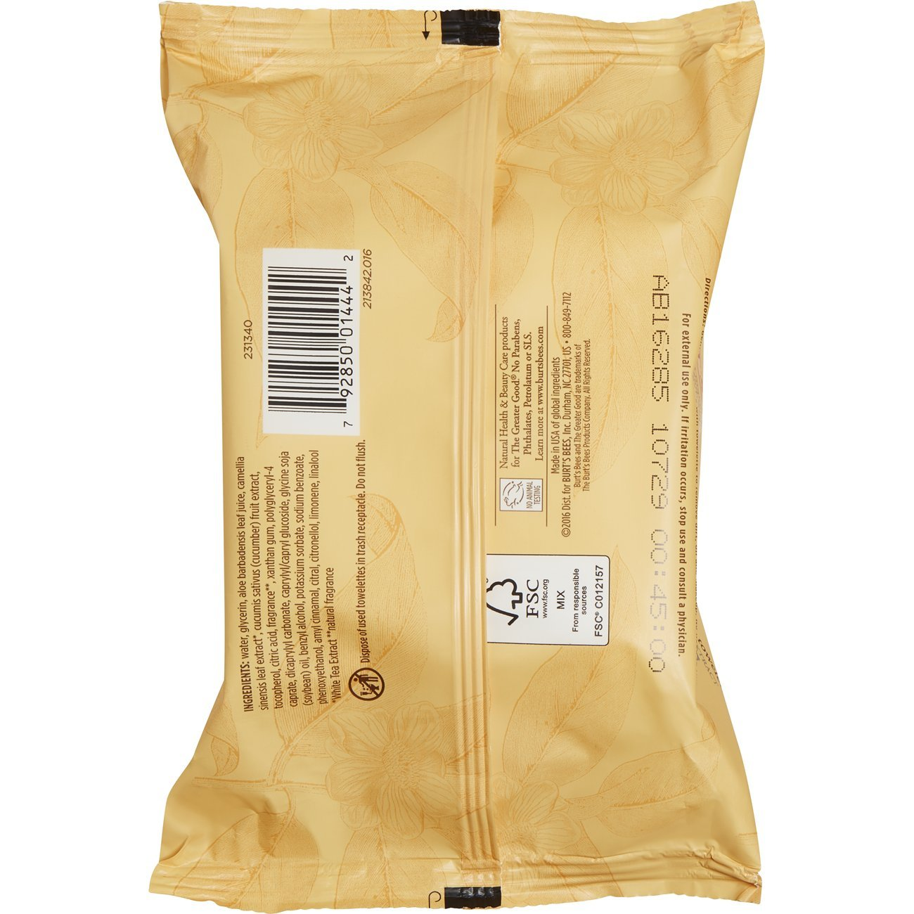 Burts Bees - toallitas de Limpieza Facial blanco té - 30 Towelette(s): Amazon.es: Salud y cuidado personal