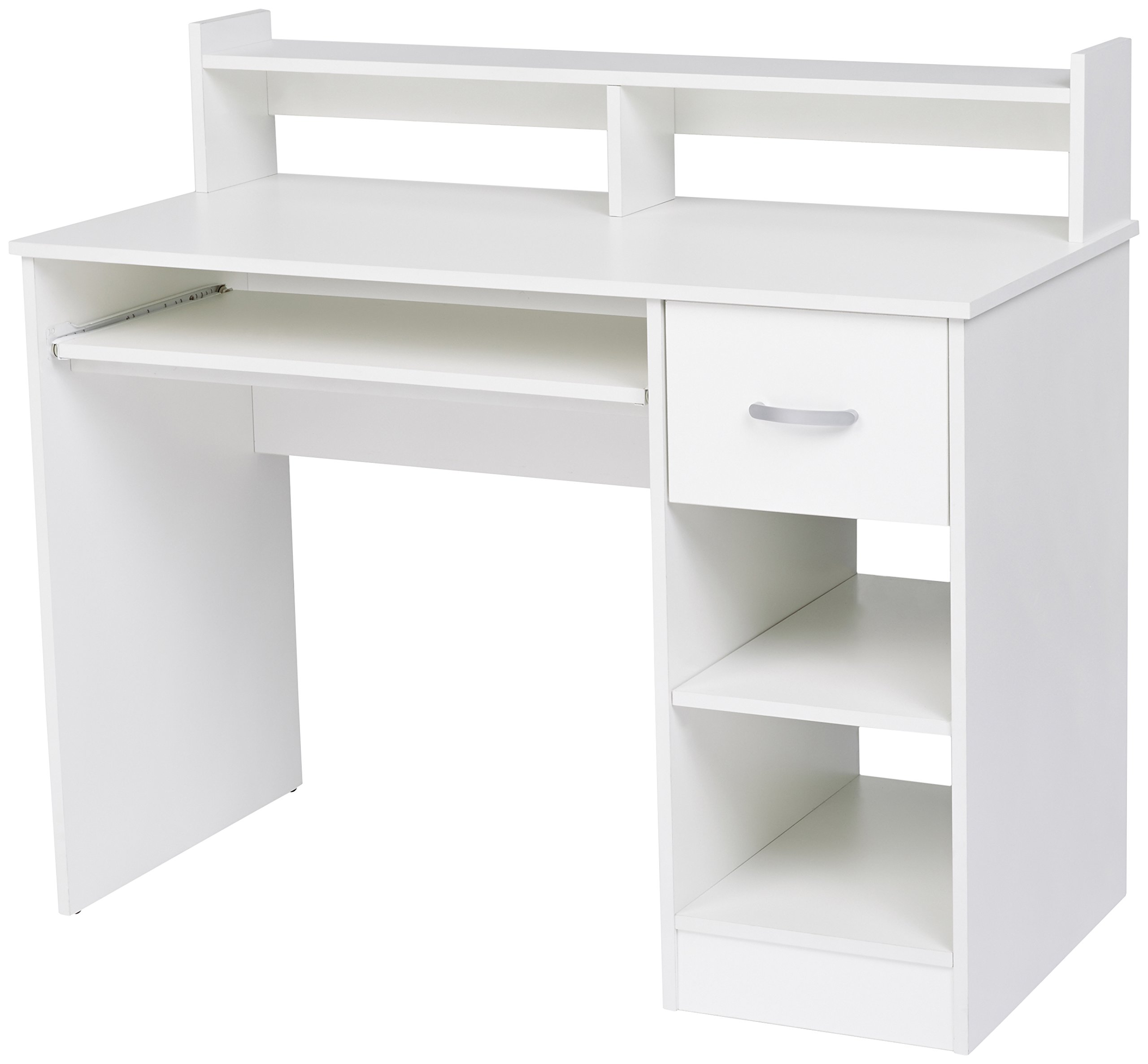 Rockpoint Kora Computer Desk with Keyboard Tray, Daisy White by ROCKPOINT