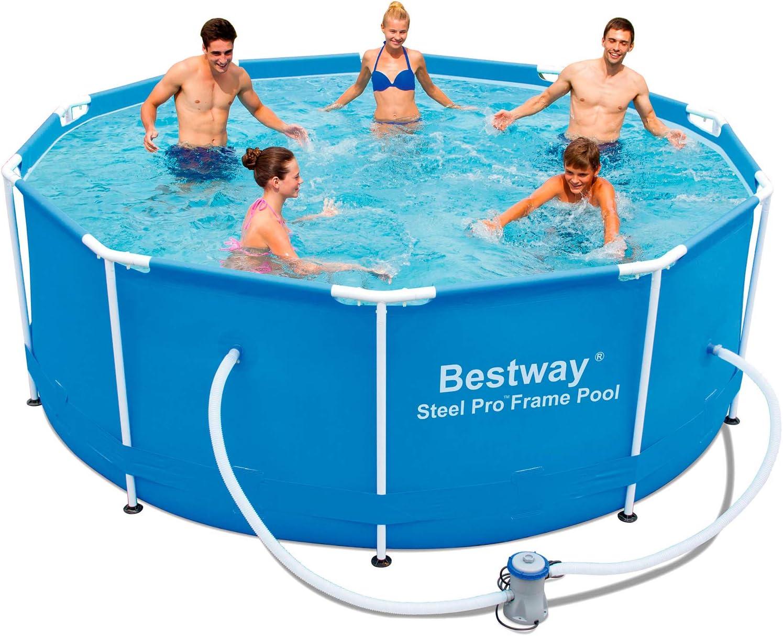 Bestway Steel Pro 56334 Piscina con depuradora 1.249 l/h, 305 x 100 cm