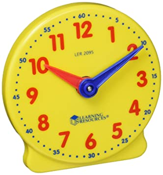 Amazon.com: Learning Resources Big Time Student Clock, 12 Hour ...