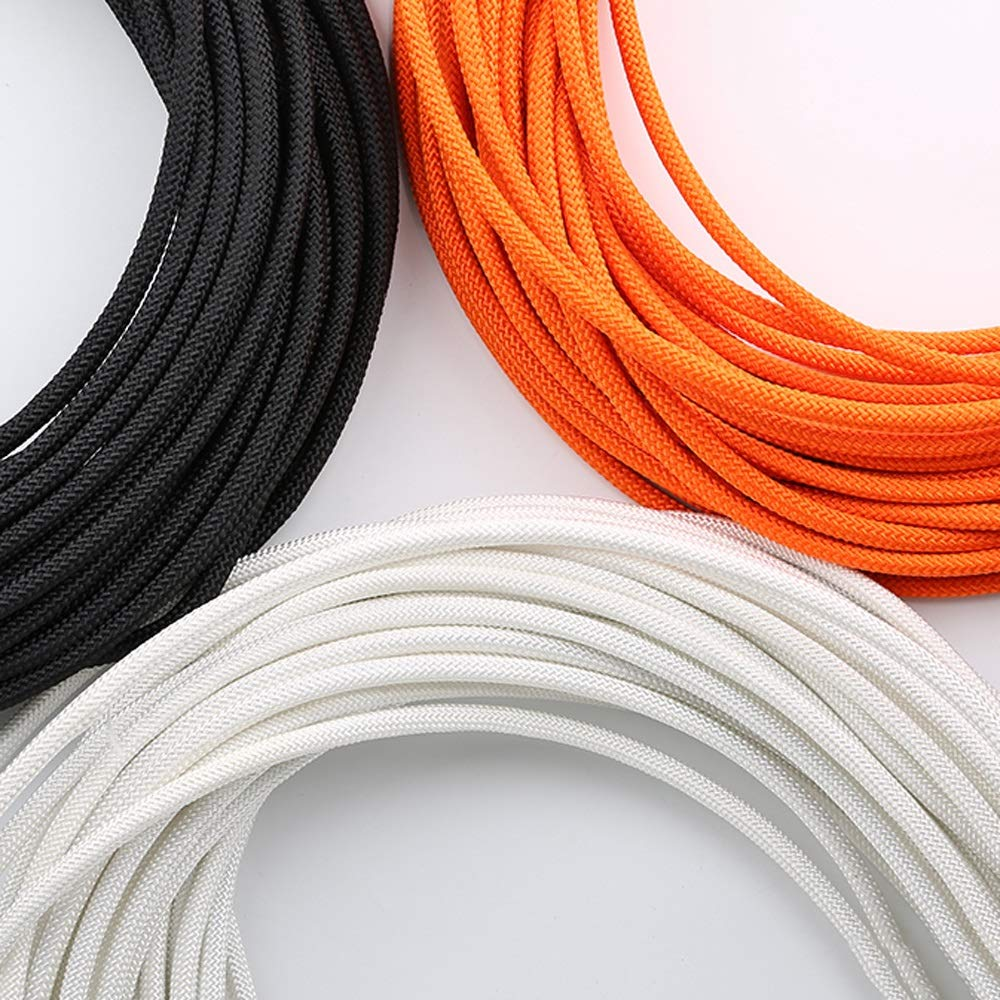 DDSS safety rope Wire Rope Outdoor Climbing Rope Auxiliary Rope Family Emergency Standby Safety Lifeline High-Rise Building Drop Rescue Rope 8mm, 3 Colors, 11 Sizes /-/ (Color : White, Size : 80M)
