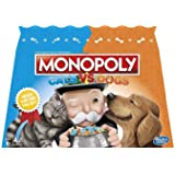 MONOPOLY Cats Vs Dogs Edition - 2 to 6 Players - Family Board Games - Ages 8+