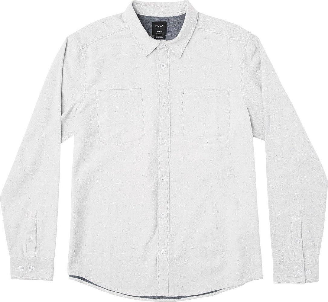 RVCA Hombre MM511SEC Manga Larga Camisa de Botones - Blanco - X-Large: Amazon.es: Ropa y accesorios