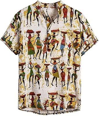 Ultra Moda Camisa Hawaiana Hombre Manga Corta Camisa Verano ...