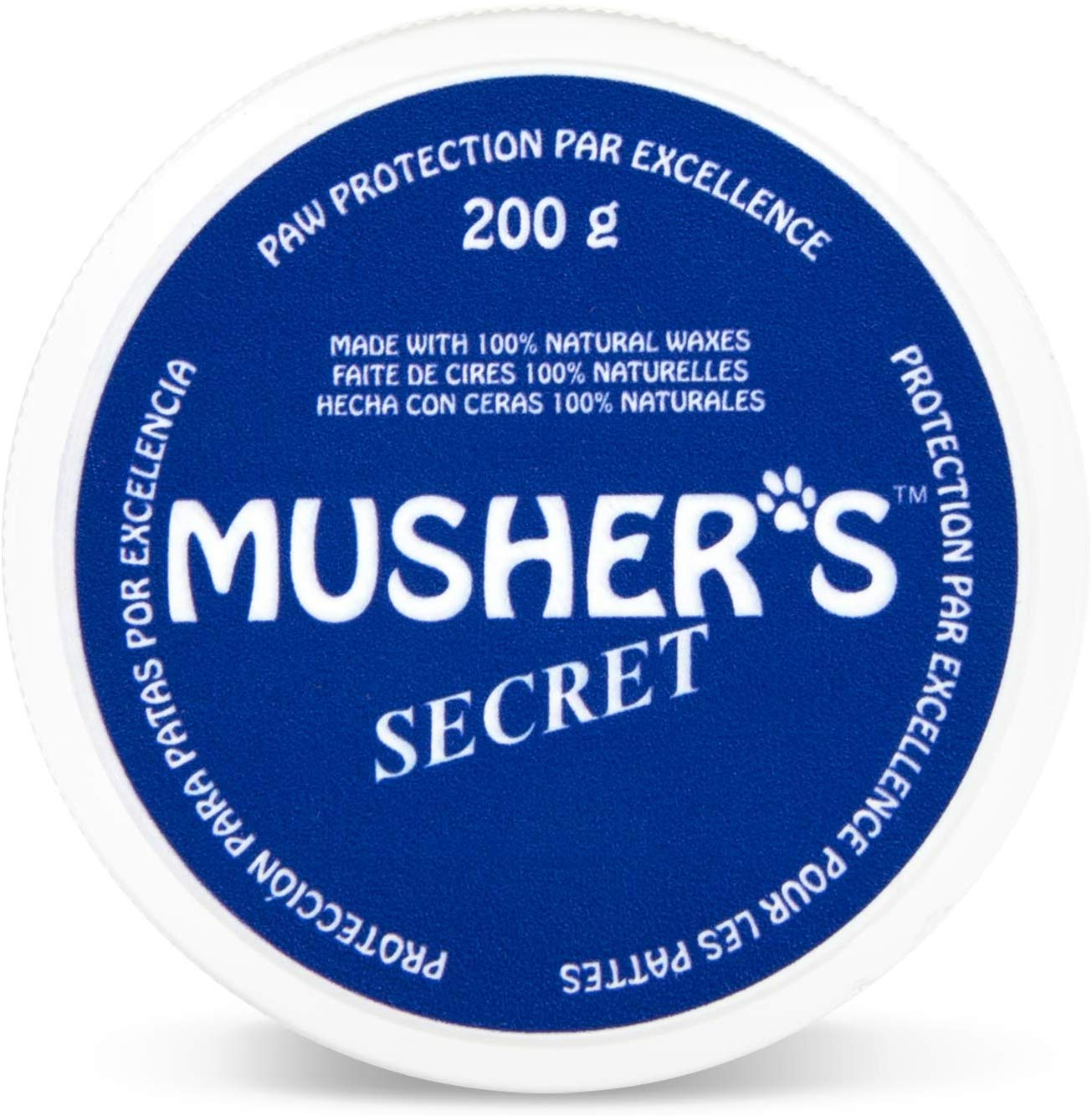 Musher's Secret Dog Paw Wax (7 Oz): All Season Pet Paw Protection Against Heat, Hot Pavement, Sand, Dirt, Snow – Great…