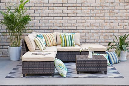 Groovy Amazon Com Living Express Tampa Outdoor Wicker Sofa Lamtechconsult Wood Chair Design Ideas Lamtechconsultcom