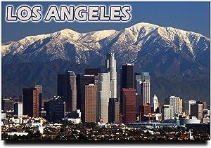 "Los Angeles fridge magnet 3""x2"" California travel souvenir"