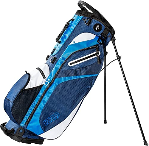 IZZO Golf Izzo Lite Stand Golf Bag Dark Blue Light Blue White Walking Ultra Light Perfect for Carrying on The Golf Course, with Dual Straps for Easy to Carry Golf Bag