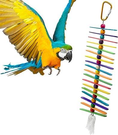 in Corda di Cotone da Appendere furetti e Piccoli Animali Crazywind scaletta per pappagalli Giocattolo per criceti