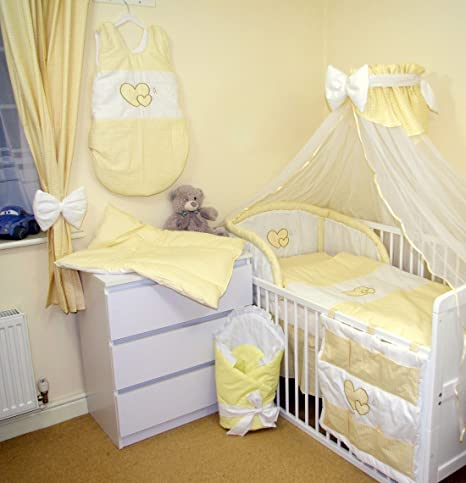 3,5 or 6 pcs BABY NURSERY BEDDING SET TO FIT BABY COT OR COT BED //COTBED
