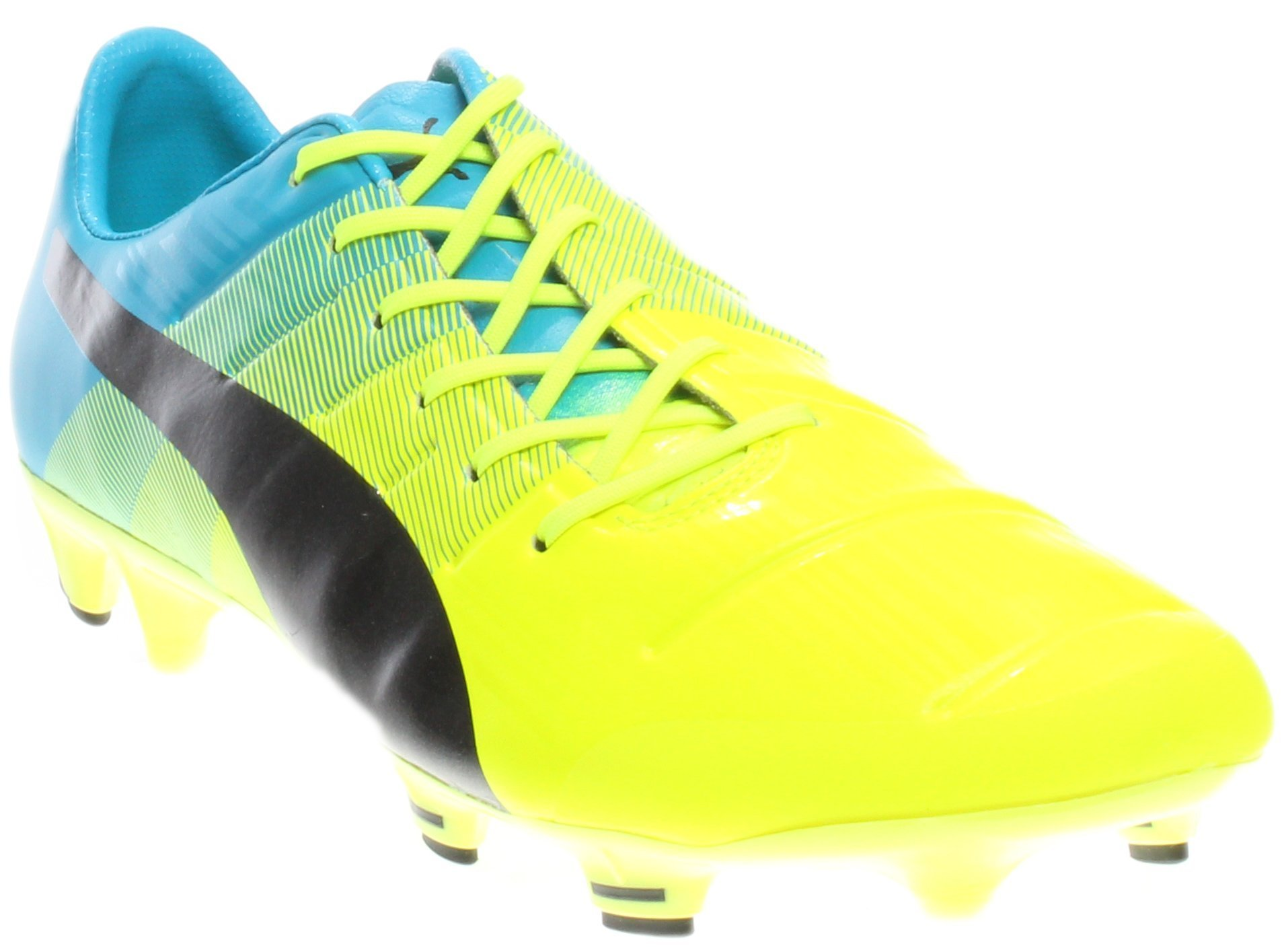 PUMA Men's Evopower 1.3 FG Sneaker, Safety Yellow/Black, 8.5 D US by PUMA