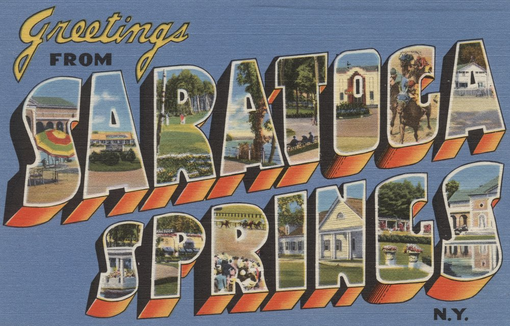 Greetings from Saratoga Springs、ニューヨーク 36 x 54 Giclee Print LANT-6319-36x54 36 x 54 Giclee Print  B01N36V0ED