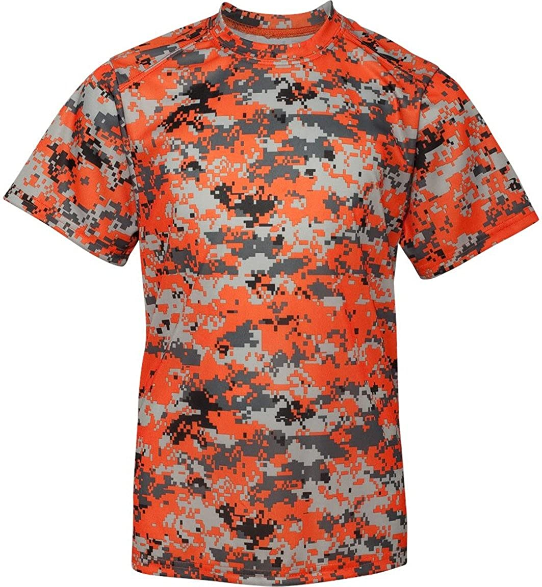 4f017124d Amazon.com  Badger Youth Digital Camo Shirt  Clothing
