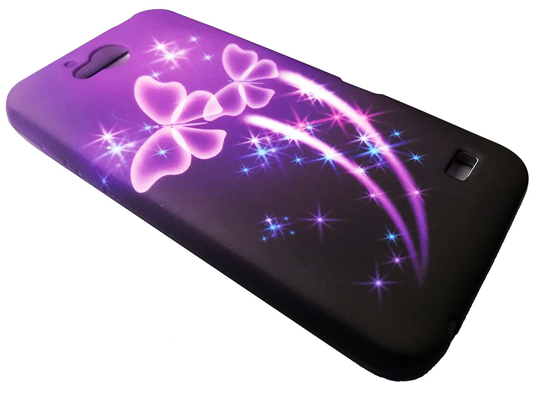 the latest ce150 2ad4f FastSun TPU Soft Crystal Skin Cover Phone Case For ZTE Majesty Pro Z798BL  Z799VL (2017) (Aqua Flower)