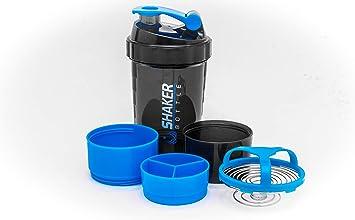 CHD Products 22 OZ BPA Free Protein Shaker with Three Part Twist Off Storage