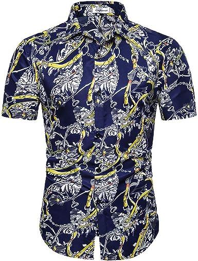 Cocoty-store 2019 Camisa Hawaiana para Hombre 3D Estampada Funny Piña Gato Palmera Camisas de Playa Galaxia Casual Manga Corta Camisas Verano Camisa del Tema en la Fiesta de Bodas Cumpleaños M-XXL: Amazon.es: