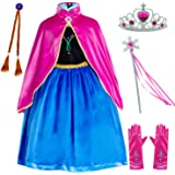 Princess Costumes Birthday Party Dress Up for Little Girls/Long Sleeve with Cape Age of 2-11 Years