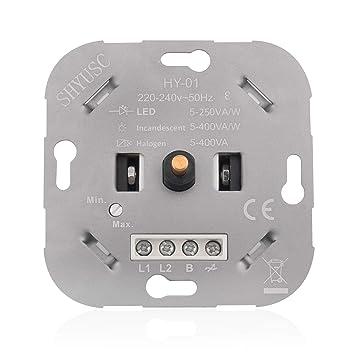 Phasenabschnitt Drehdimmer Dimmer Led Led230v Dimmbare Shyusc® Zu Vaw Dimmschalter 400 Für 250 5 Halogenlampen Einfach XwkiTOPZul
