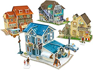 CubicFun 3D French Puzzles for Cityscapes Architectural Building Model Kits, 161 Pieces, W3187h