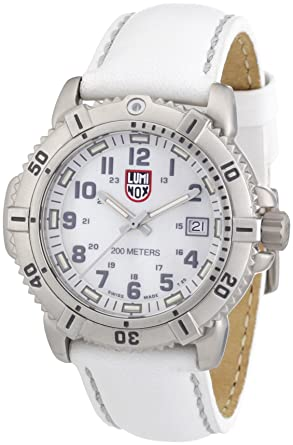 Luminox Womens A.7257 ModernMarine Analog Display Quartz White Watch