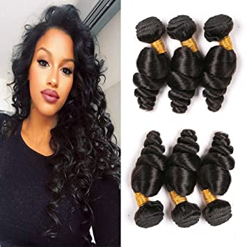 Amazon Com Loose Wave Brazilian Hair 3 Bundles 20 22 24 Inches 7a