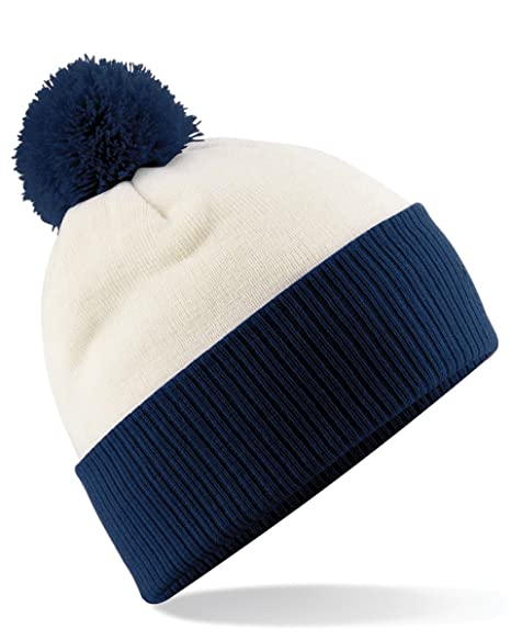 Amazon.com   Beechfield B451 Snowstar Duo Two Tone Beanie Hat Off ... 70083823217b