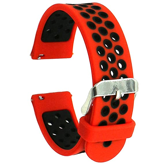 Eletespt 20mm Universal Smart Watch Bands, Silicone Smartwatch Replacement Band Strap for Samsung Gear S2 and Moto 360 2nd 42mm for Men,Huawei Watch ...