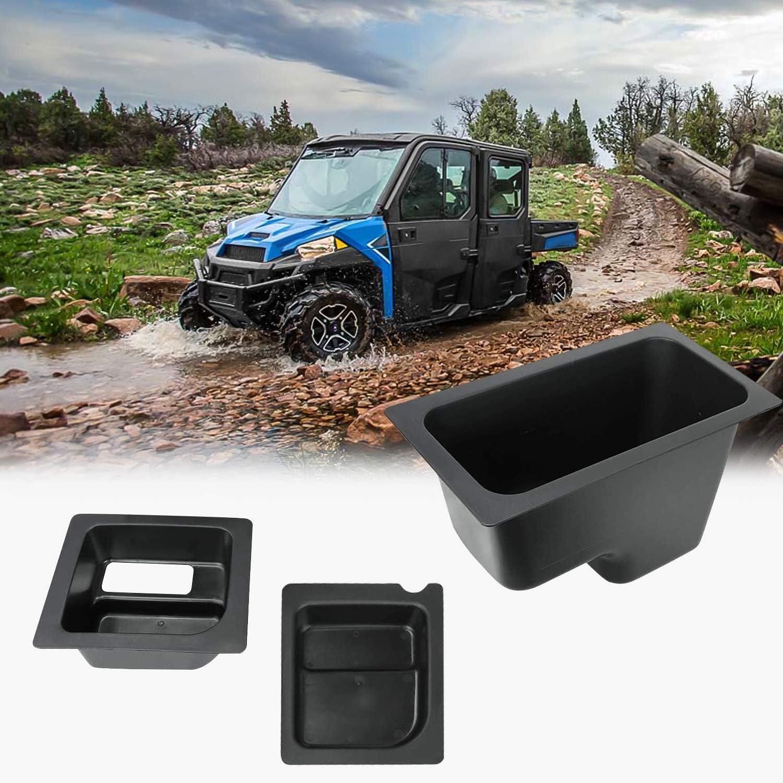 "3PCS Black Under Seat Storage Box EBESTauto Mid-Size Under Seat Storage Bin Set Fit for 2015 2016 2017 2018 Polaris Ranger 500//570 PRO-FIT Cage Model 50/"" Wide"