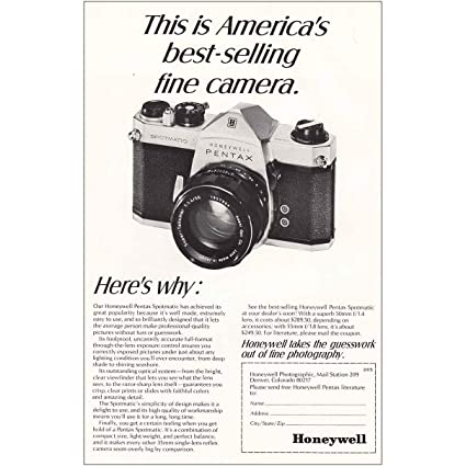 cf86c08b1 Amazon.com: RelicPaper 1968 Honeywell Pentax Spotmatic Fine Camera ...