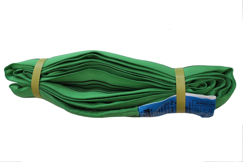 4x Rundschlinge 2000 Kg 2 To Grün 2 M Umfang Hebeband Hebeschlinge Kran Hebegurt Gewerbe Industrie Wissenschaft