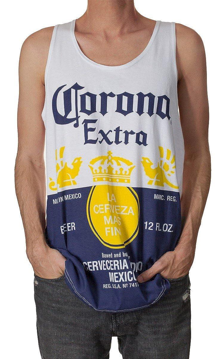 Calhoun Corona Extra Men's Bottle Label Tank Top