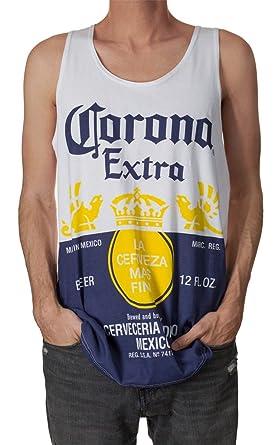 b288744aa9a1c Amazon.com  Official Corona Extra Bottle Label Print Men s Tank Top ...
