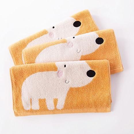 Toallas CHENGYI niño de algodón Puro pequeña hogar Bordado de Dibujos Animados Suave y cómodo toallita de bebé 60 * 31 cm (Color : Gray): Amazon.es: Hogar