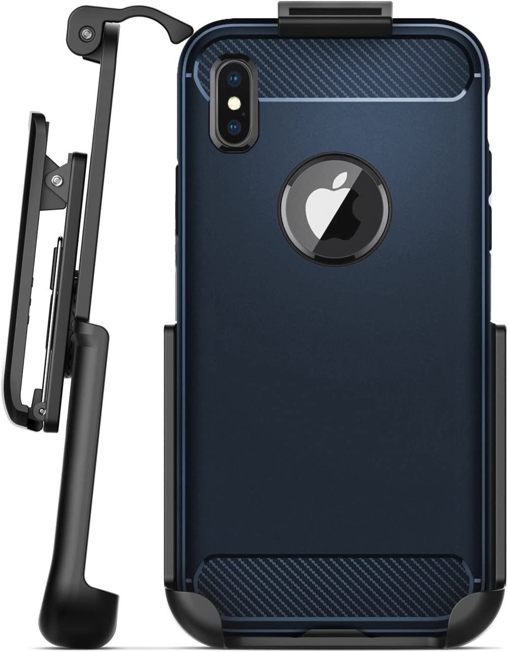 Encased Belt Clip Holster for Spigen Rugged Armor Case - iPhone X/iPhone Xs (case not Included)