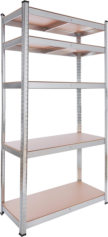 5 MDF Platten 180x90x40cm 875kg 2x Arebos Schwerlastregal Kellerregal Lagerregal Steckregal 2er Set