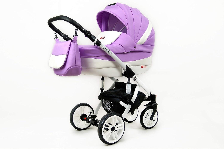 Cochecito de bebe 3 en 1 2 en 1 Trio Isofix silla de paseo Lilly by SaintBaby Antracyt 3in1 con Silla de coche