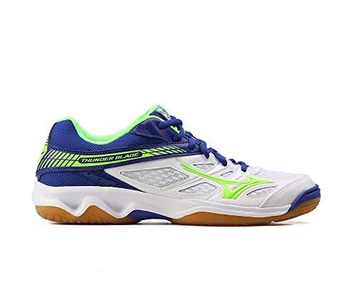 Mizuno - Zapatillas de voleibol de Material Sintético para hombre blanco bianco blu verde: Amazon.es: Zapatos y complementos