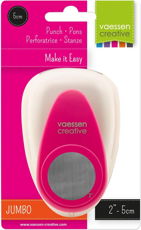 multi-couleur Vaessen creative Craft Paper Punch Circle Motif Puncher