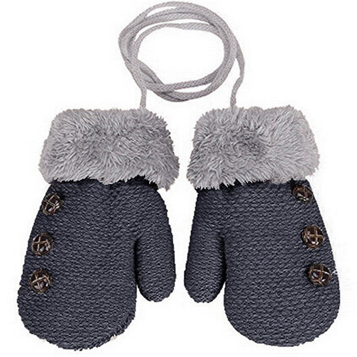Lalang Gants en tricot pour enfants gants chauds dhiver