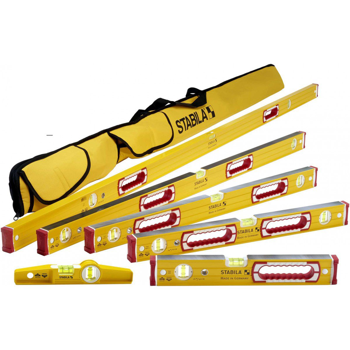 Stabila 196 Level Set Kit - 78''/58''/32''/24''/16'' Torpedo and Case by Stabila (Image #1)