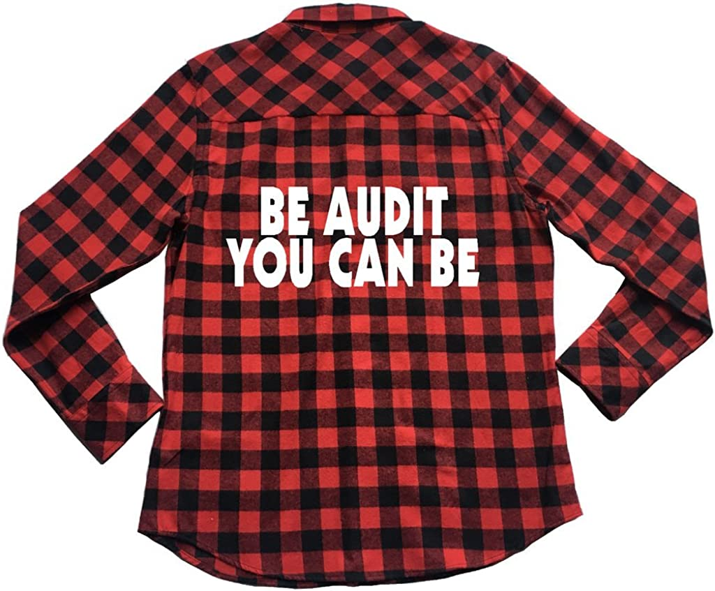 Apple Orange Gifts Be Audit You Can Be Unisex Plaid Flannel Shirt